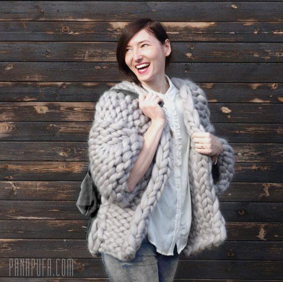 chunky-knit-merino-cardigan-light-gray