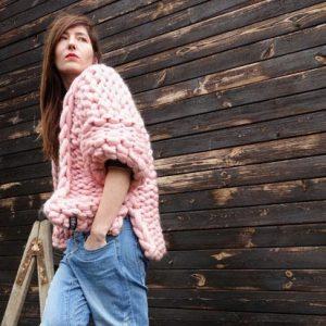 knit cardigan PANAPUFA