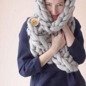 chunky knit scarf snood