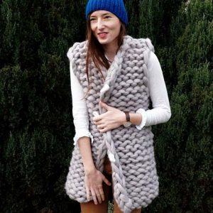 PANAPUFA chunky knit vest