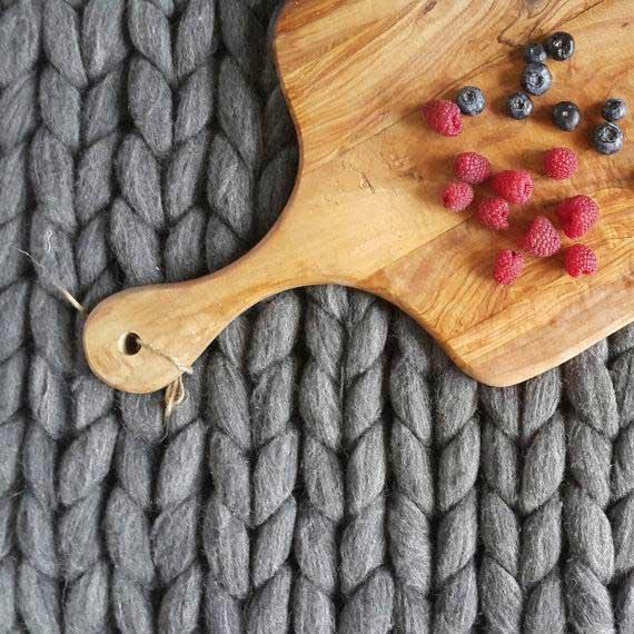 chunky knit rug