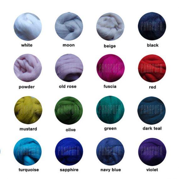 color chart pouf PANAPUFA