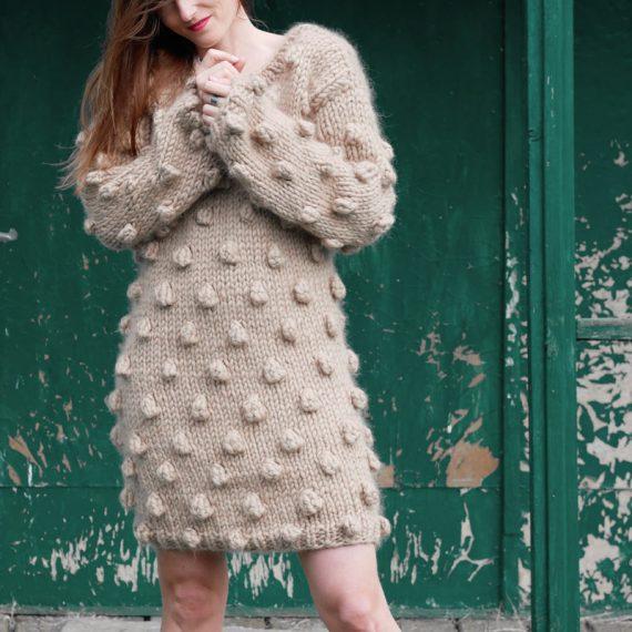 chunky-knit-alpaca-bubbles-sweater-raspberry-cardigan