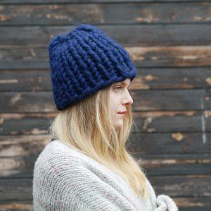navy-blue-chunky-knit-merino-beanie-cardigan-panapufa-luxurious-fashion-trends-2021