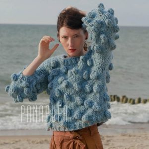 light-blue-bubbles-chunky-knit-alpaca-wool-sweater-jumper