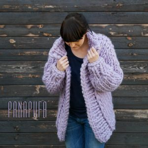 light-lilac-violet-chunky-knit-merino-cardigan-sweater