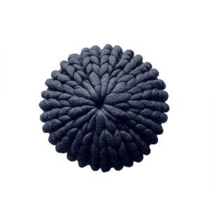 skandynawska-pleciona-pufa-podnóżek-w stylu-boho-grafitowa