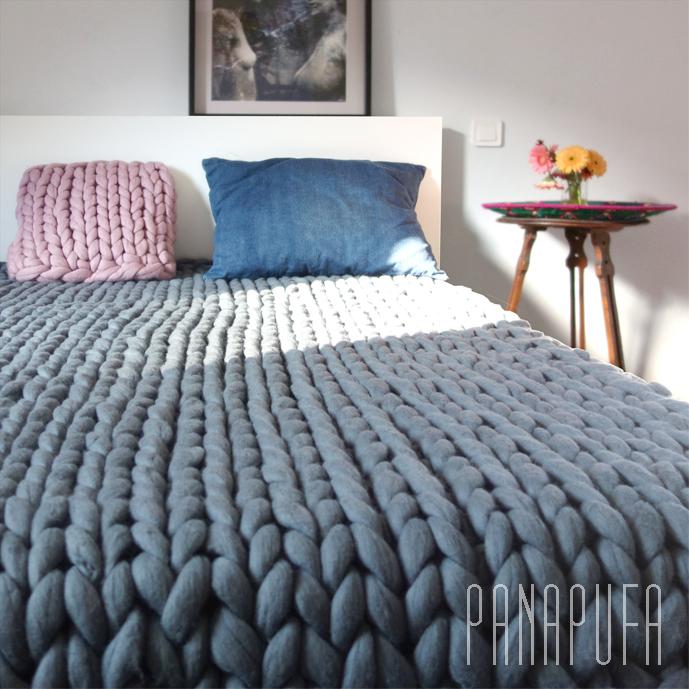 Basic Chunky Knit Bed Runner 100 200 Cm Panapufa